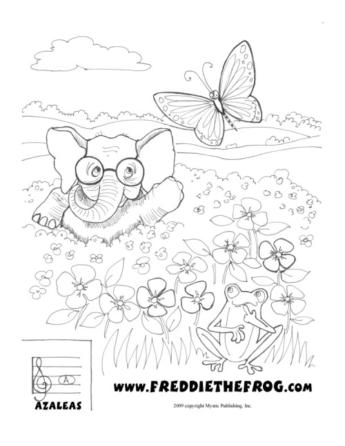 Freddie The Frog Coloring Pages