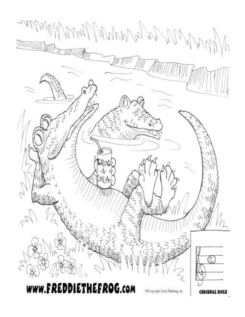 free life cycle of a crocodile coloring pages